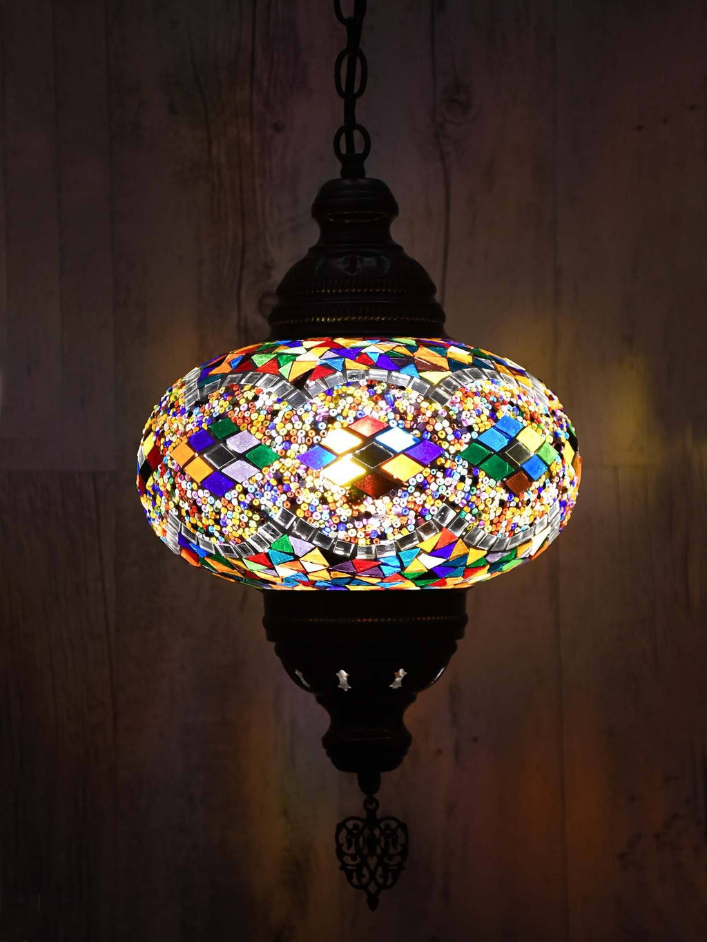 Turkish Pendant Light Colourful Round Kilim