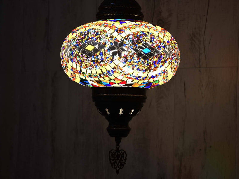 Ceiling Chain Fitting Light Colourful Yellow