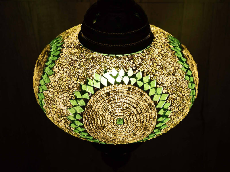 Turkish Ceiling Chain Fitting Light Green