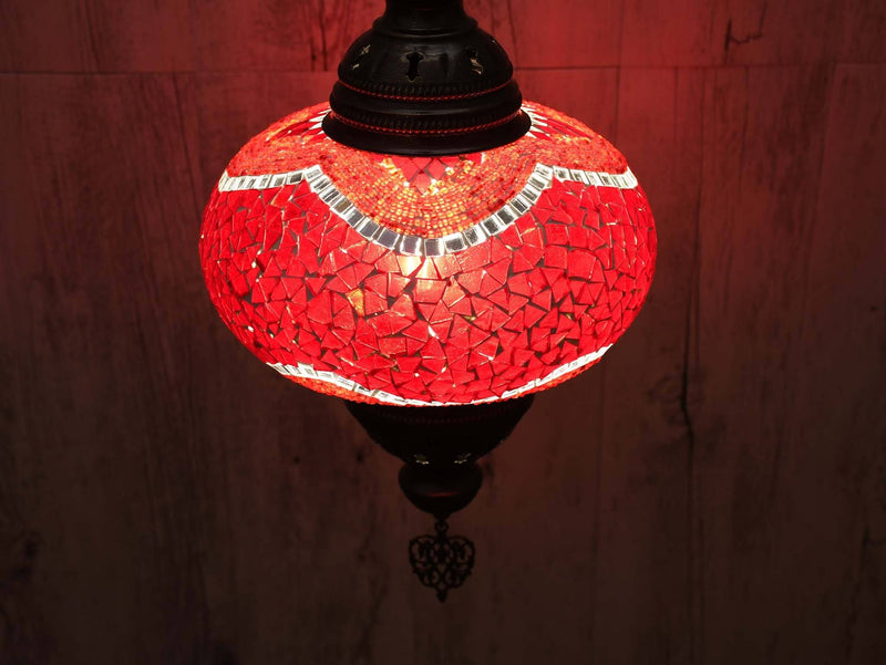 Turkish Pendant Light Mosaic Red