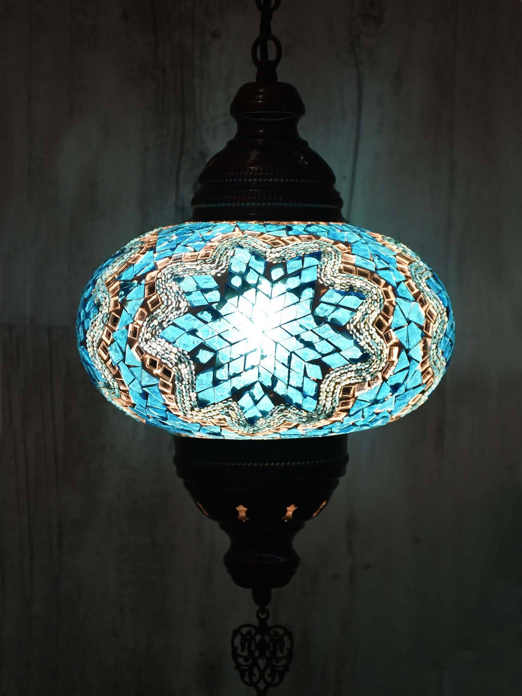 Turkish Ceiling Lights Single Pendant Blue Colour