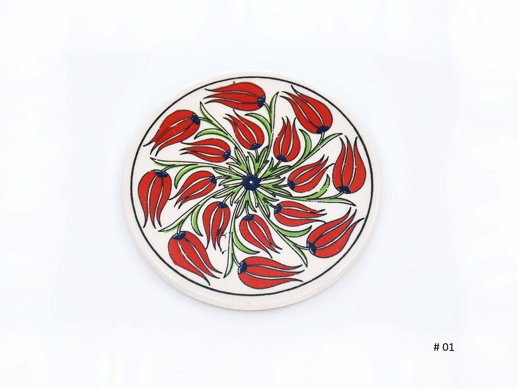 Turkish Ceramic Coaster Iznik Collection #1