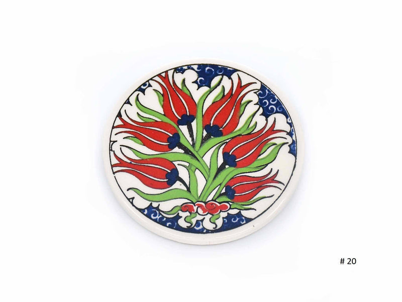 Turkish Ceramic Coaster Iznik Collection tulip