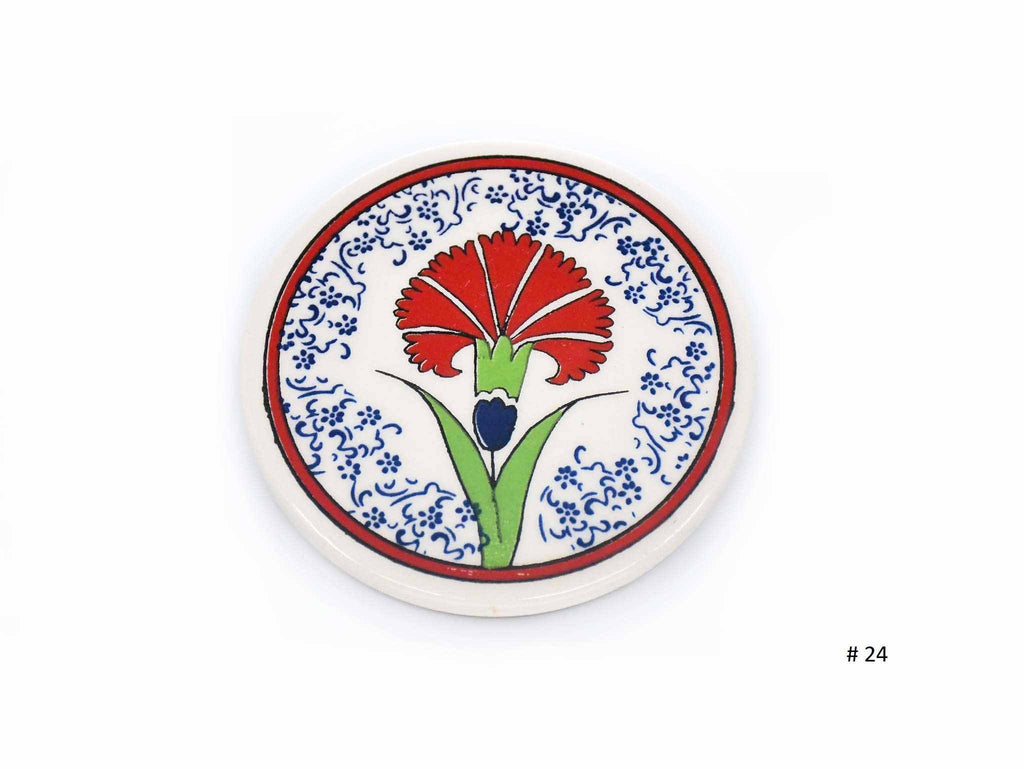 Turkish Ceramic Coaster Iznik Collection