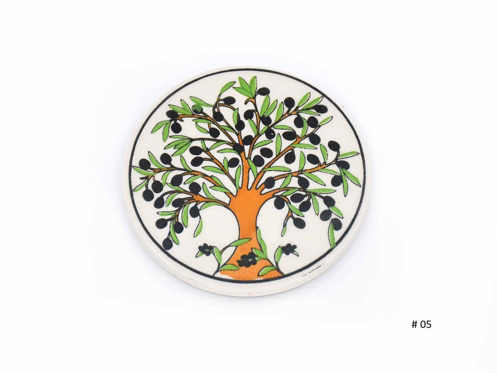 Turkish Ceramic Coaster olives tree