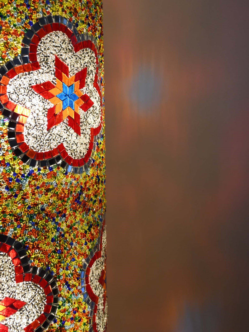 Exclusive Turkish cylinder floor lamp colourful