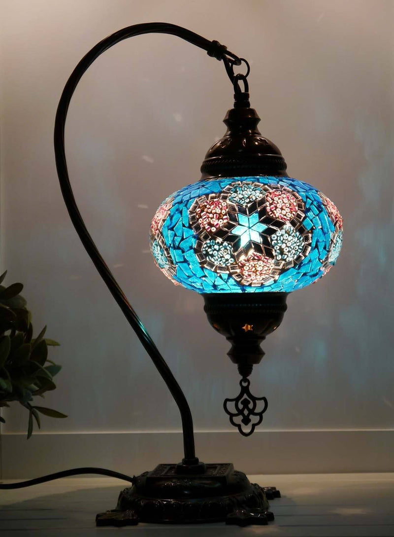 Turkish Lamp Aqua Pink colour australia