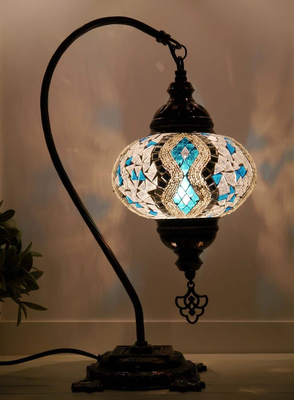Aqua White Table Lamp Australia