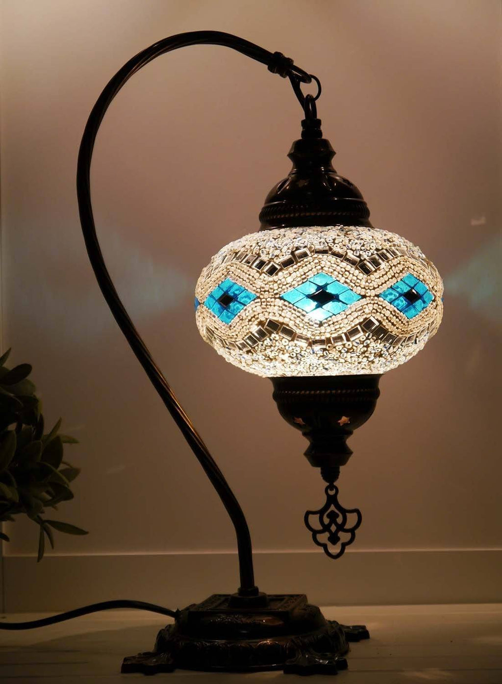 Turkish Lamp Aqua White colour Sydney