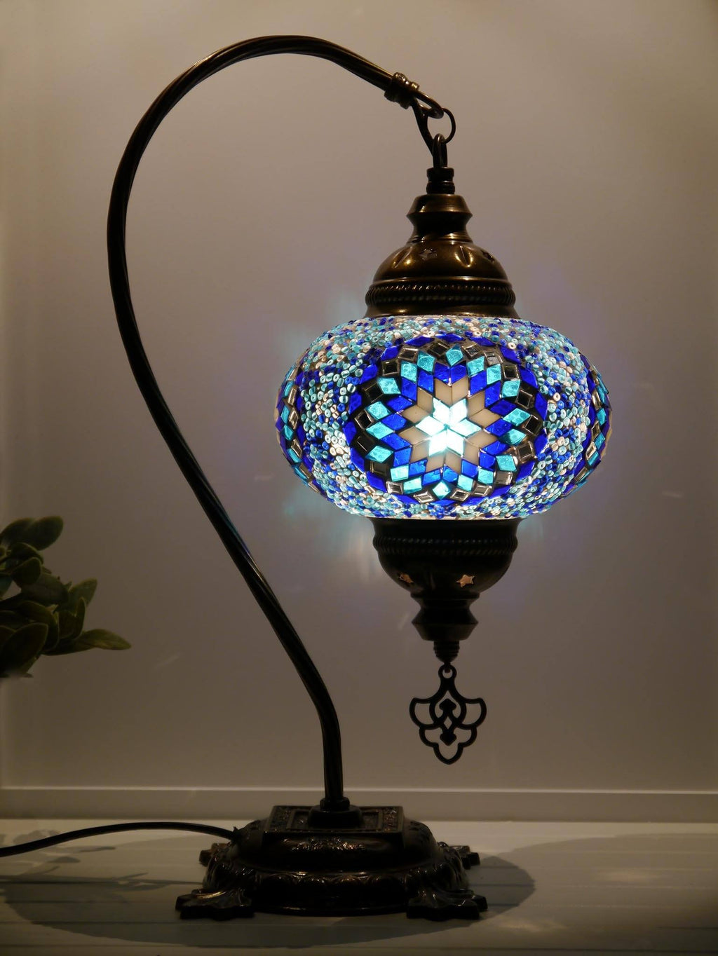 Turkish Lamps Blue Colour