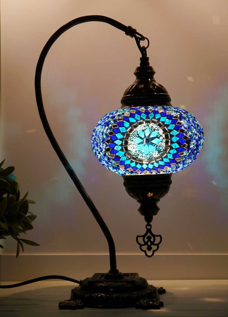 Turkish Lamp Blue Round