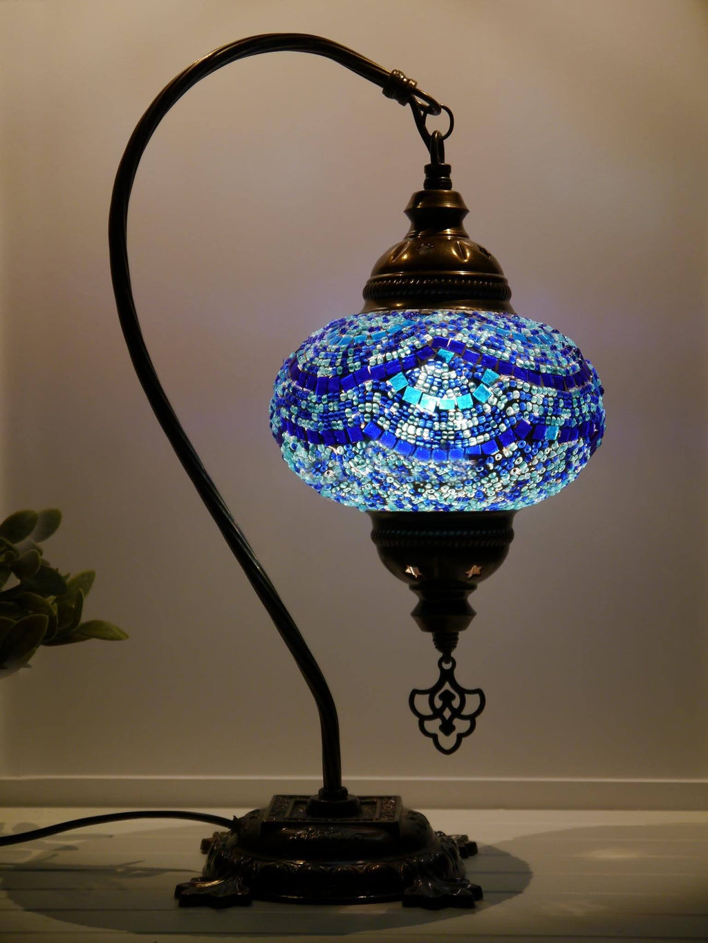 Turkish Mosaic Lamps Blue Colour