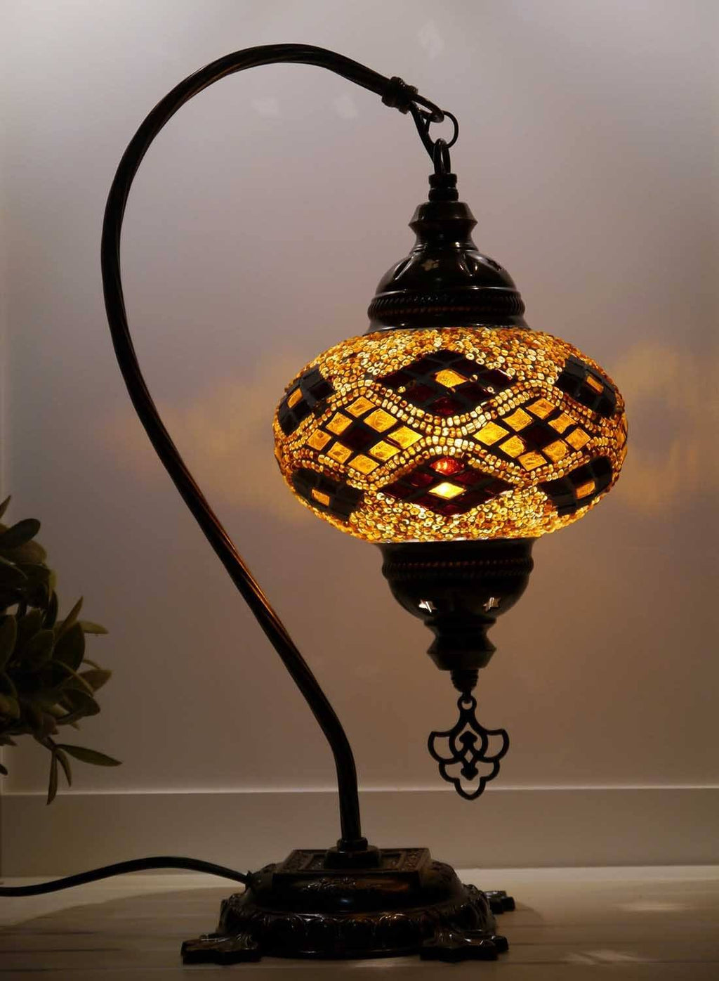 Turkish Lamp Golden Brown colour