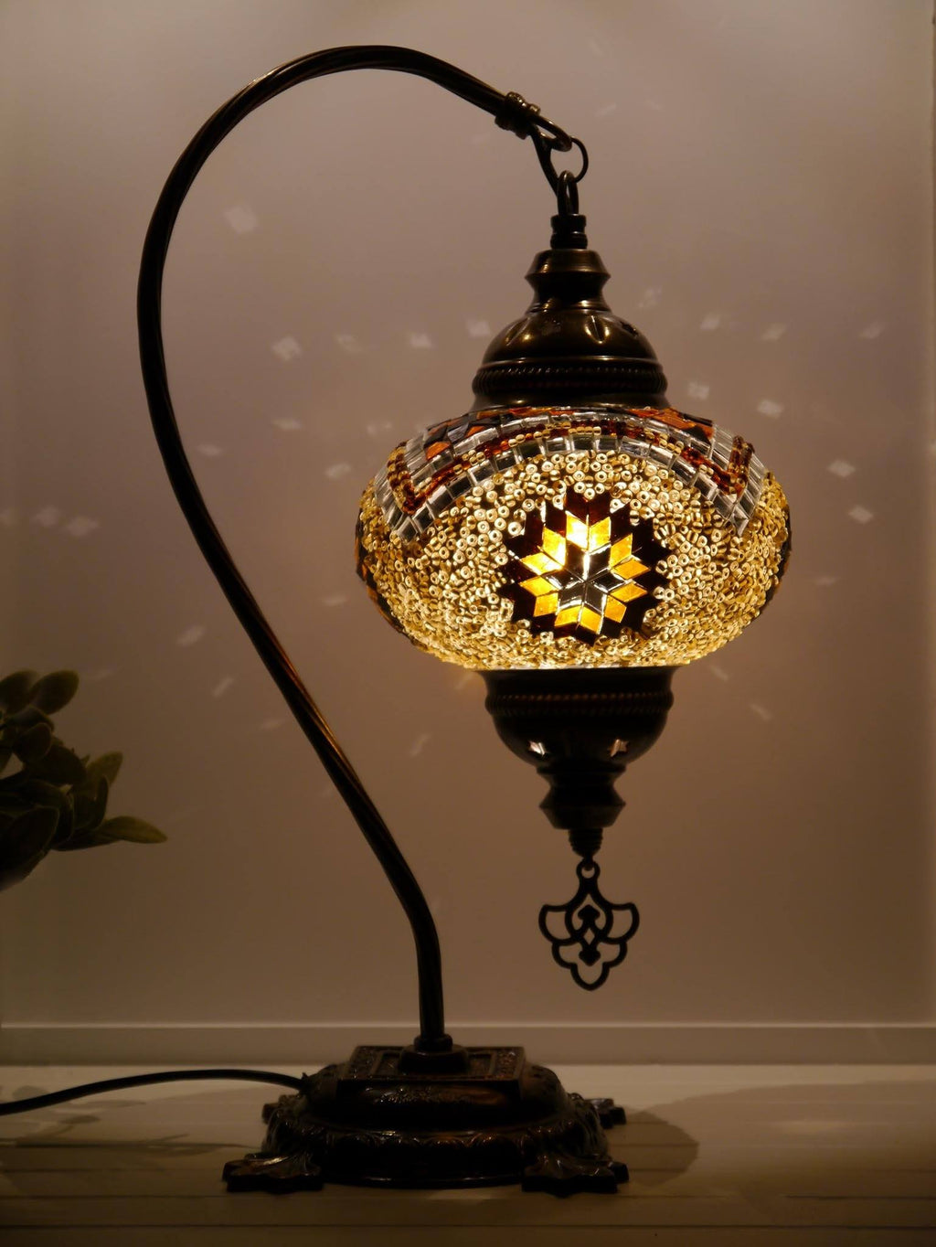 Turkish Lamp Golden Brown Exclusive Star