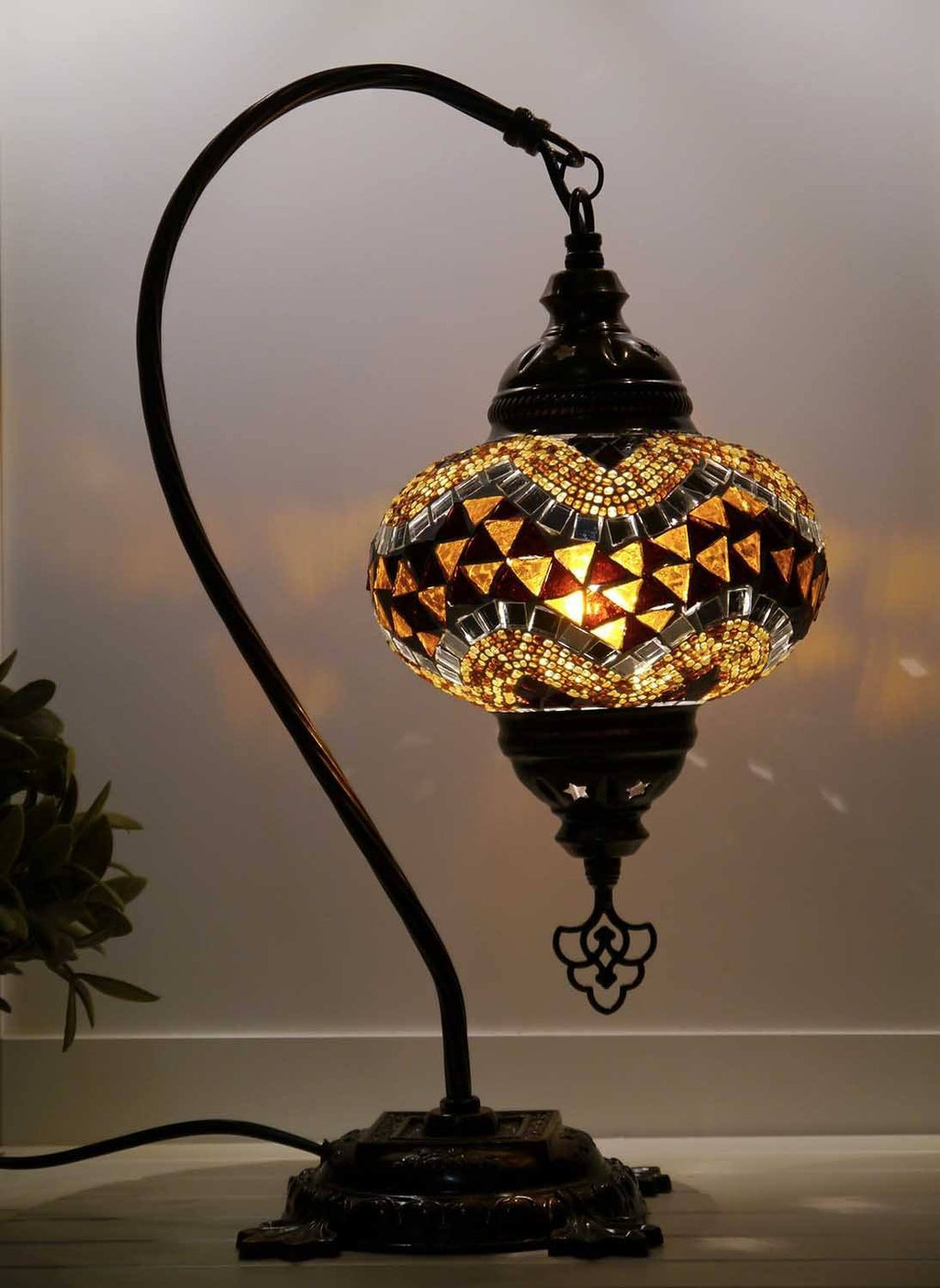 Turkish Lamp Golden Brown colour Sydney