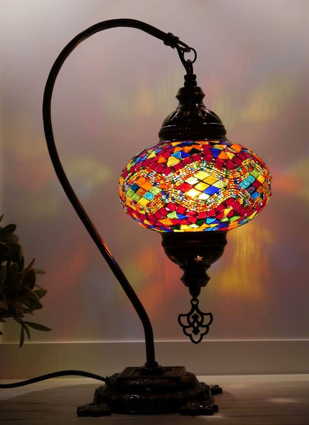 turkish table lamps multicoloured