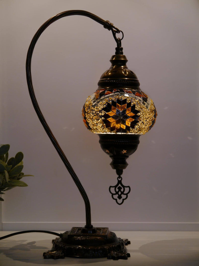 Turkish Lamp Hanging Brown Exclusive New Star Beads