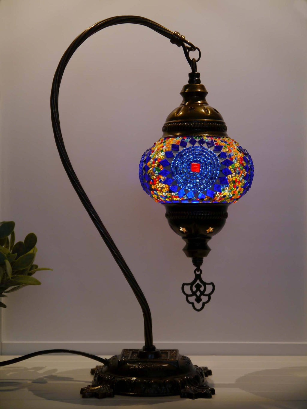 Multicoloured Blue Turkish Lamps Australia