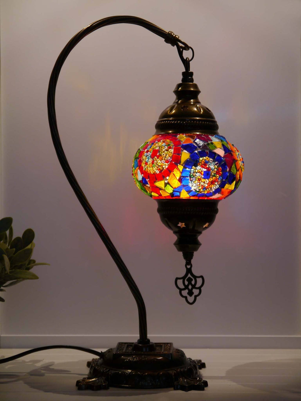 Turkish Lamp Hanging Multicoloured Mix Circle