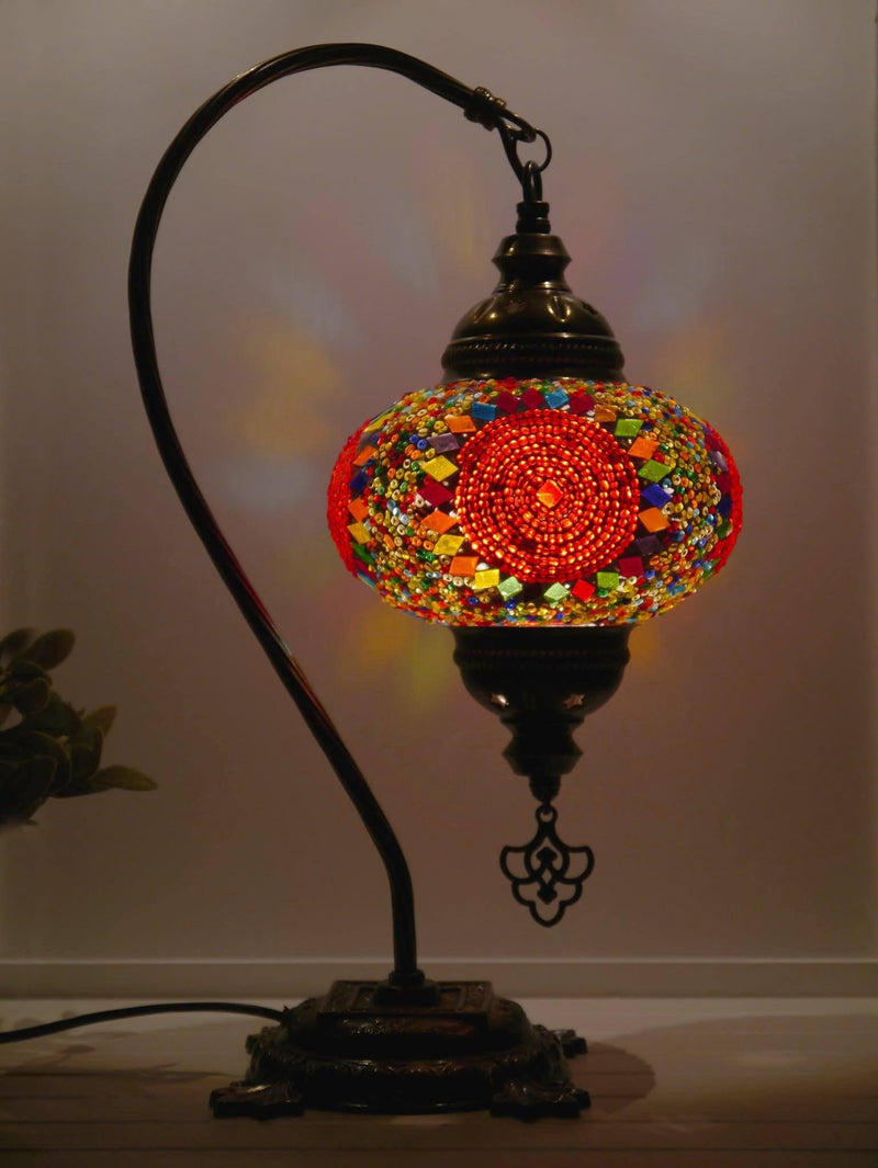 Turkish Lamp Multicoloured Beads Red Circle