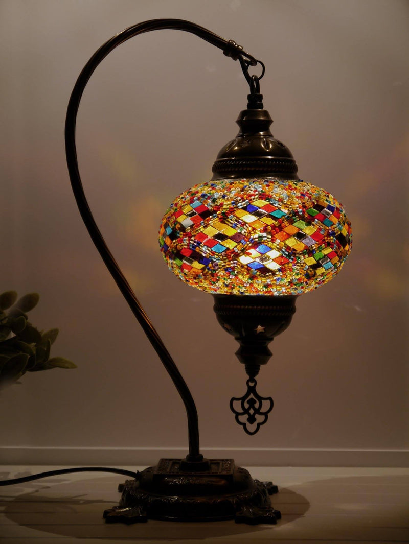 Turkish Lamp Multicoloured Long Kilim