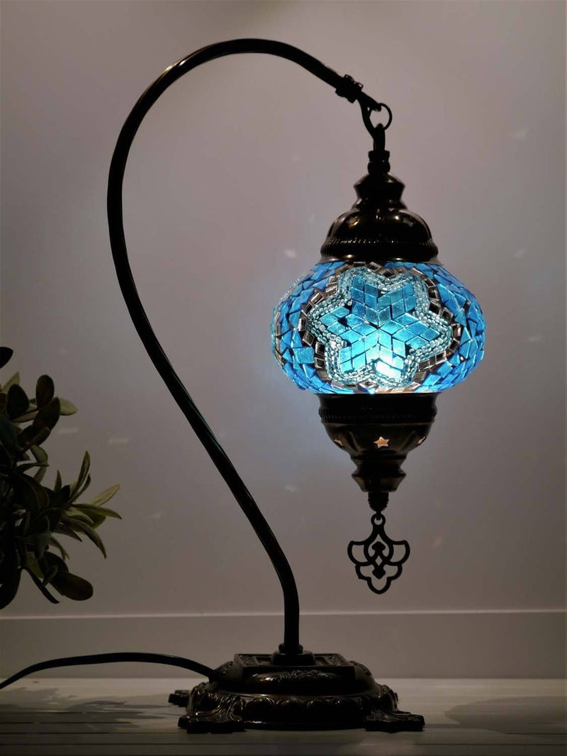 turkish lamp aqua colour australia