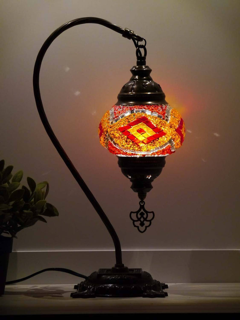 turkish mosaic lamp red orange colour australia