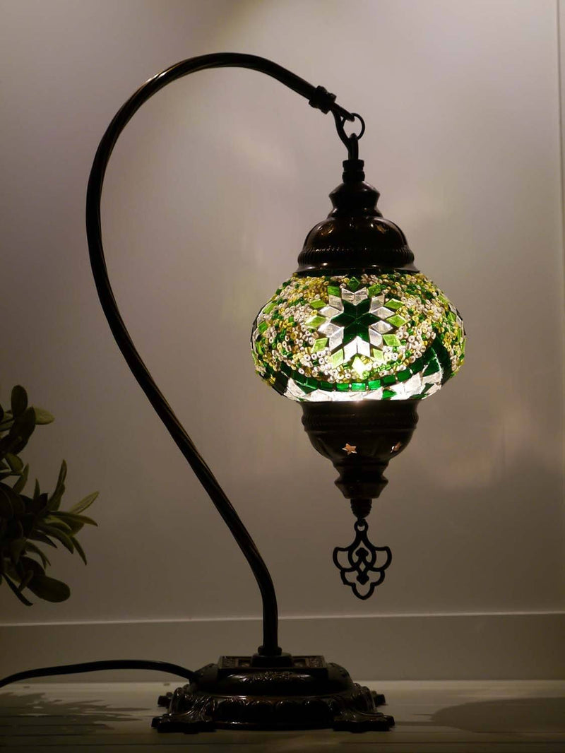 turkish mosaic lamp green colour australia