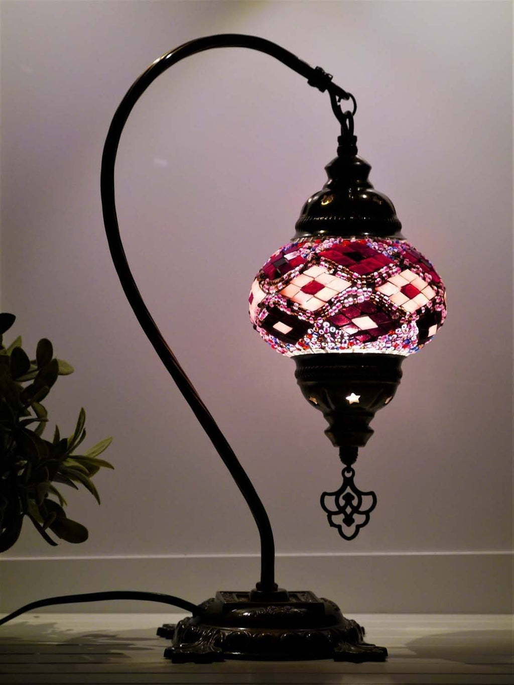 turkish lamps purple maroon colour australia