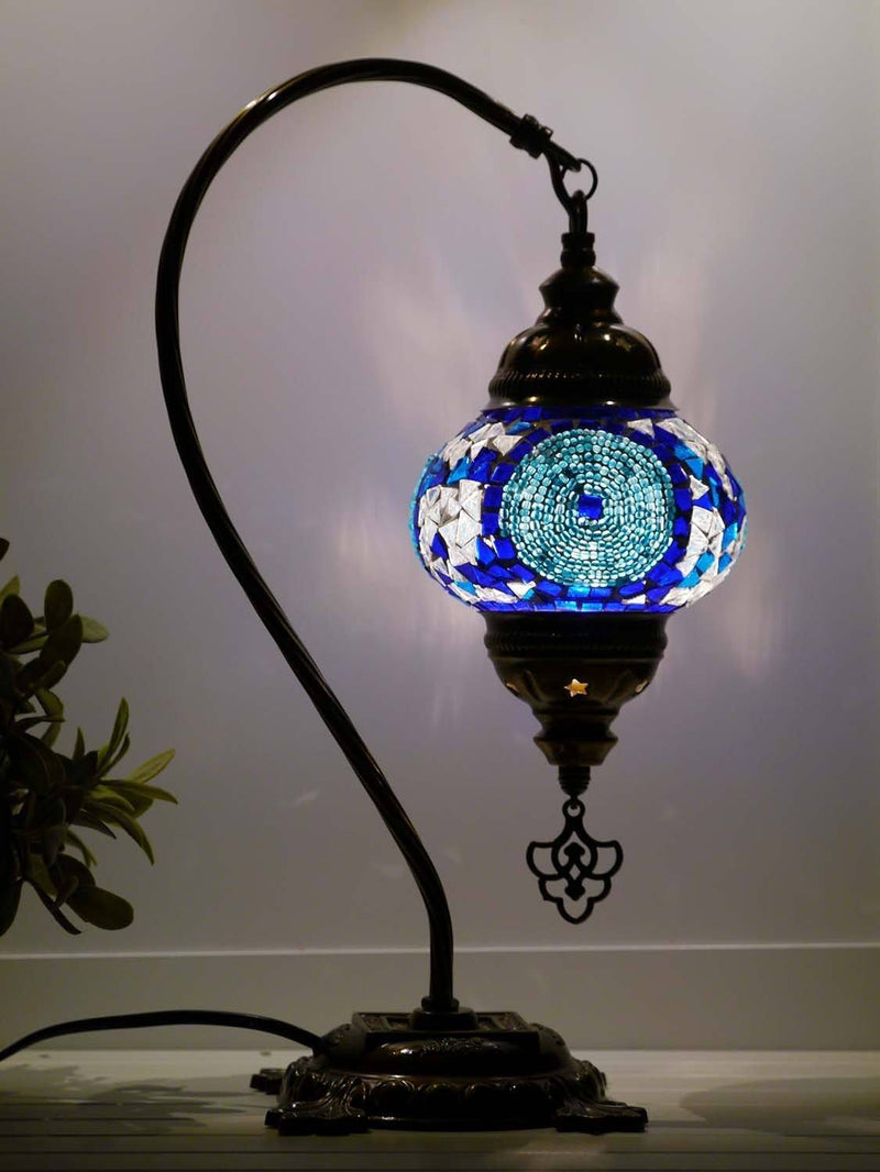 turkish mosaic lamp blue colour australia