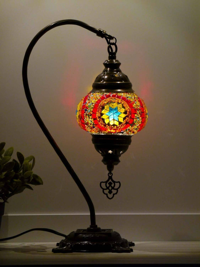 Turkish Lamp Hanging White Long Kilim