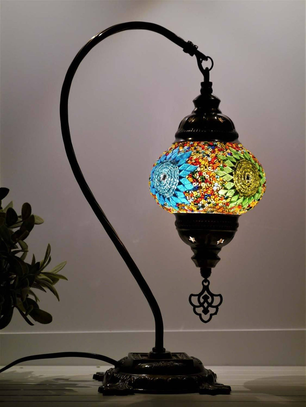 turkish mosaic lamp multicoloured australia