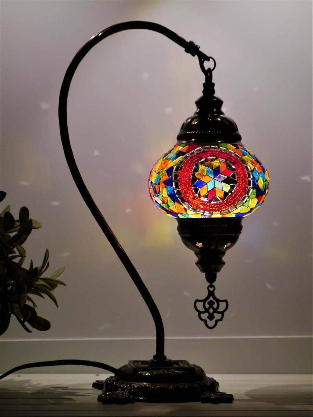 turkish mosaic lamp multicoloured red australia