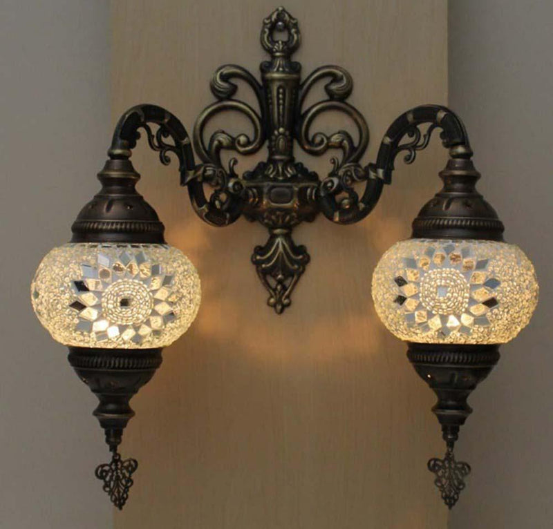 Turkish Mosaic Wall Lights Double Style