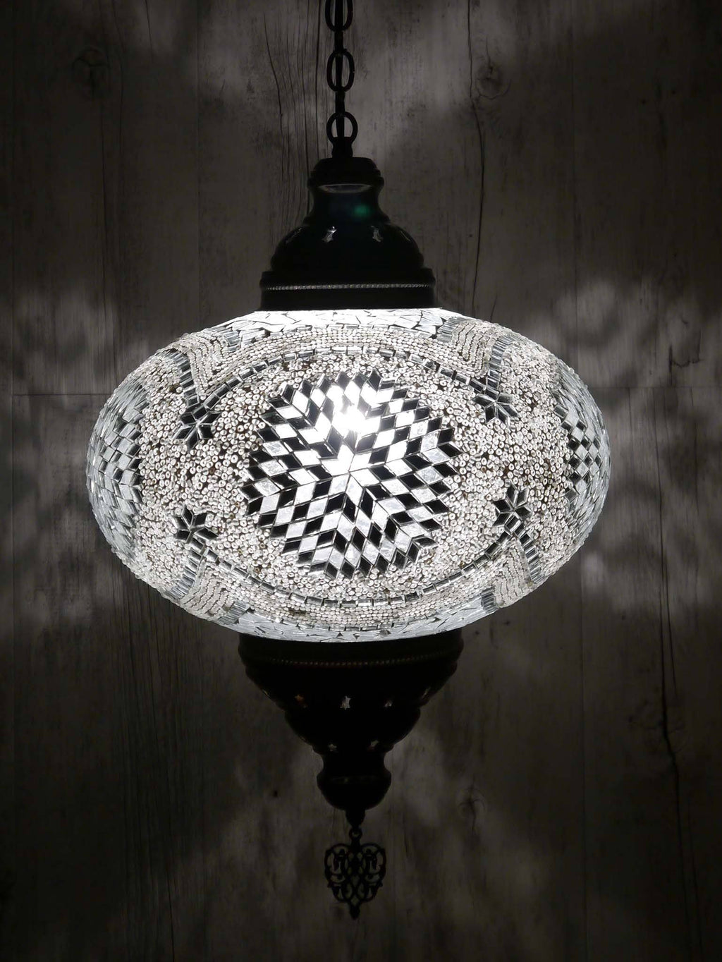 Turkish Ceiling Light Clear White Star