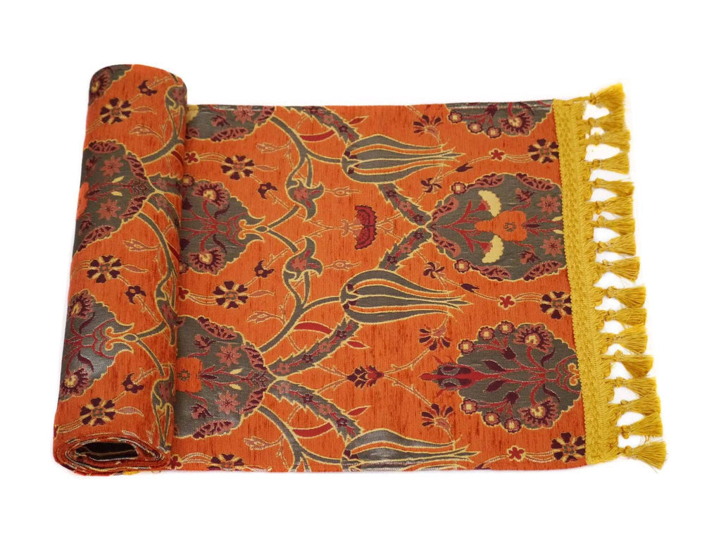 Turkish Table Runner Orange Colour