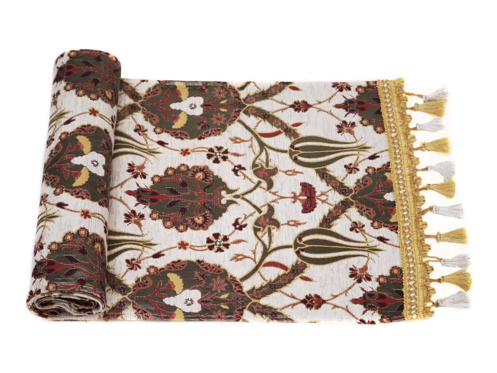 Turkish Table Runner White Colour