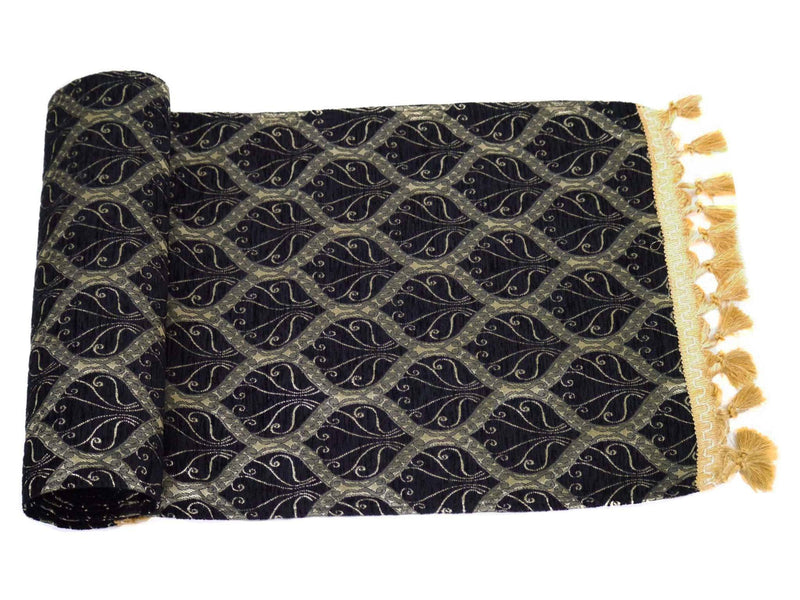 Turkish Table Runner Black Colour