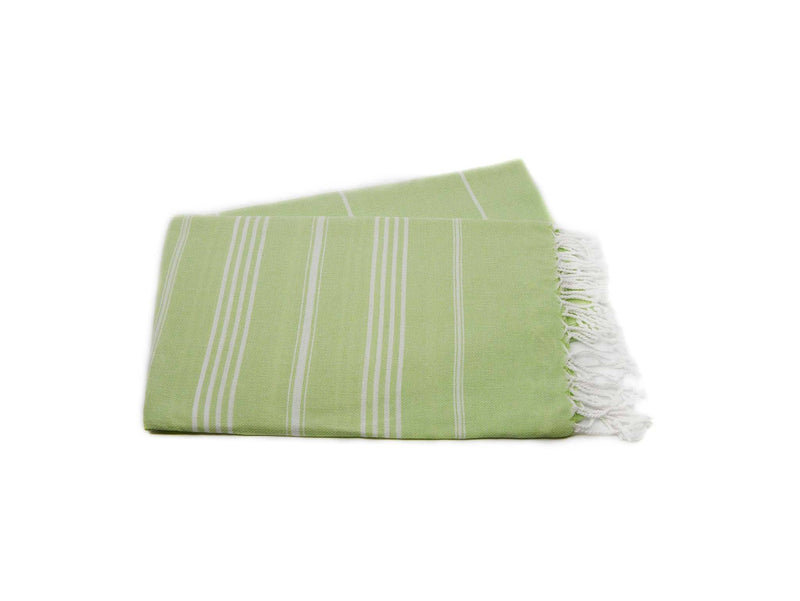 Turkish Towel Cotton Classic Striped Green