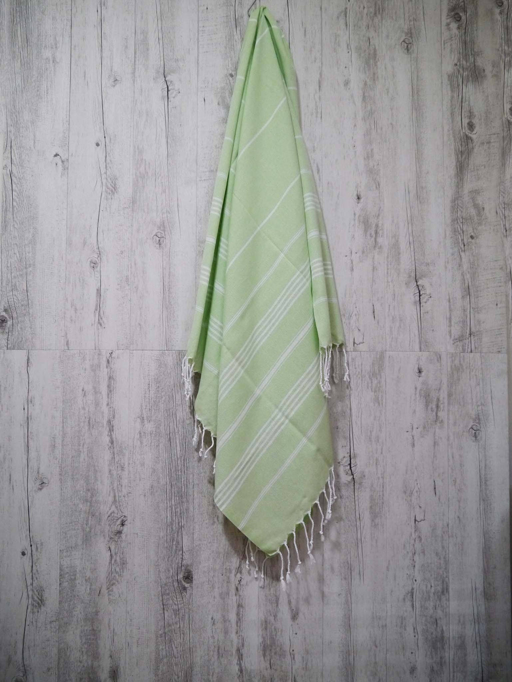 Turkish Towel Classic Striped Lime Green