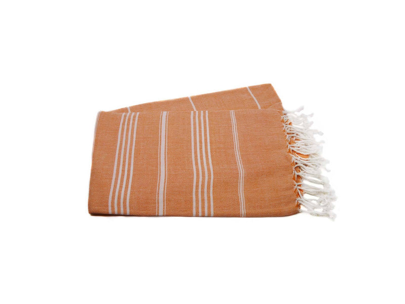 Turkish Beach Towels Orange Colour