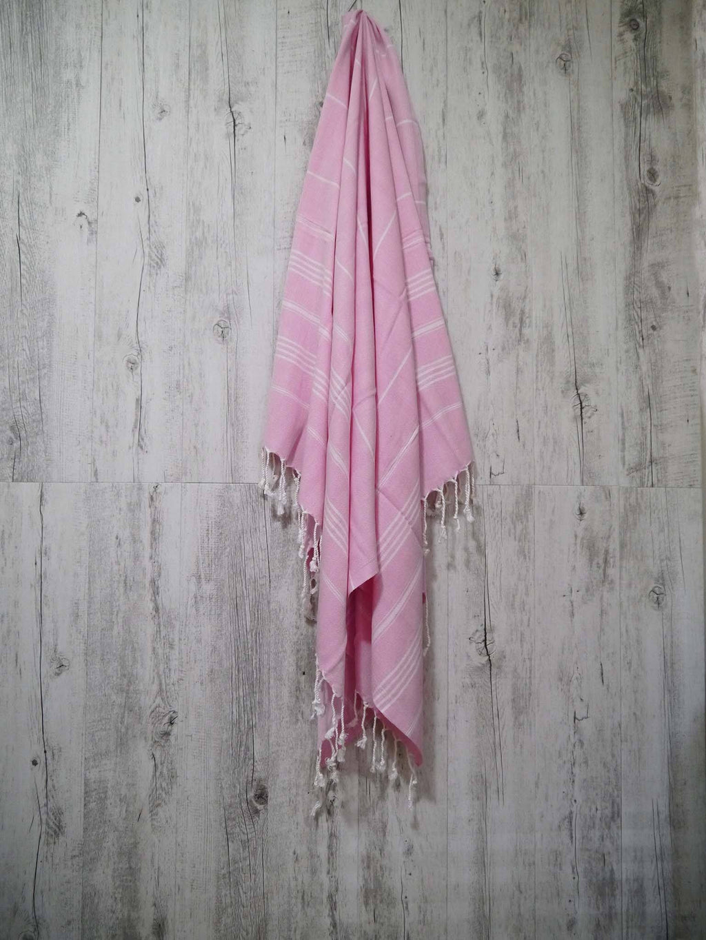 Turkish Towel Cotton Classic Striped Pink