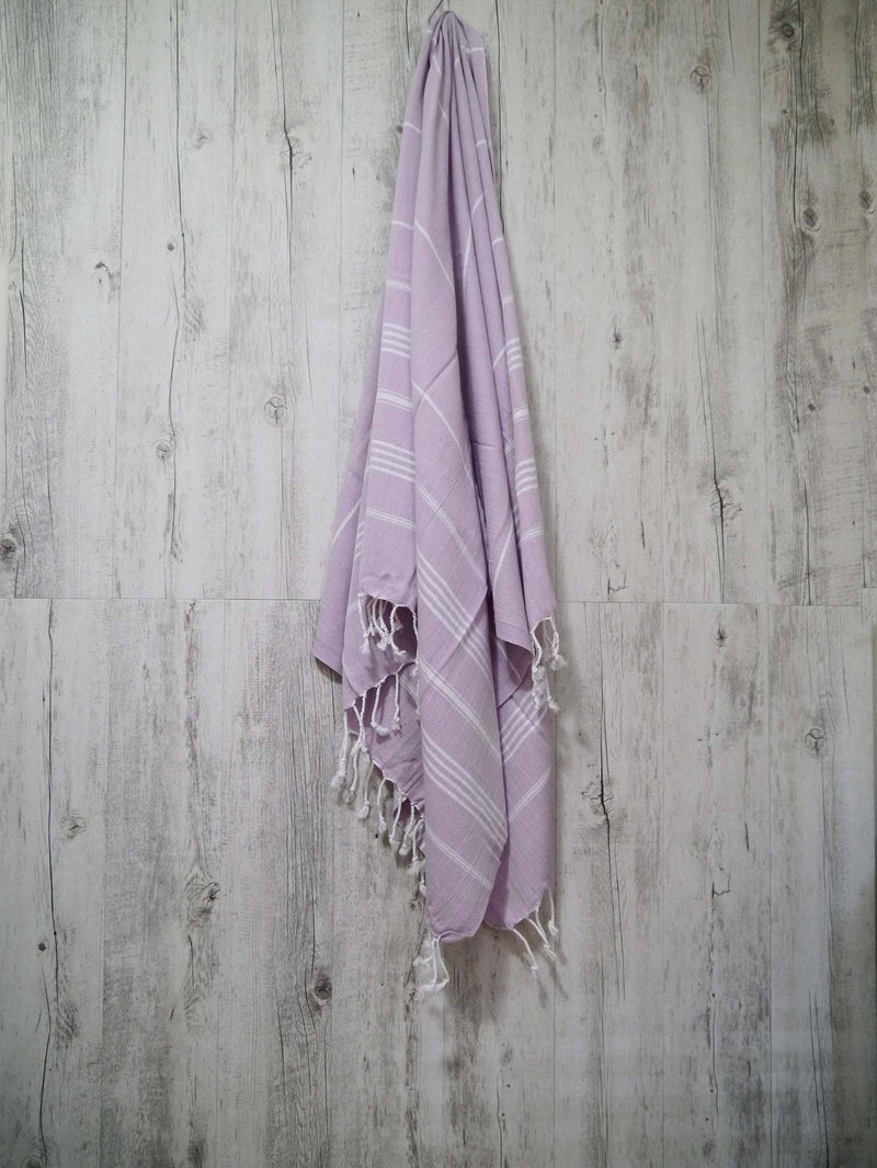 Turkish Towel Cotton Classic Striped Purple