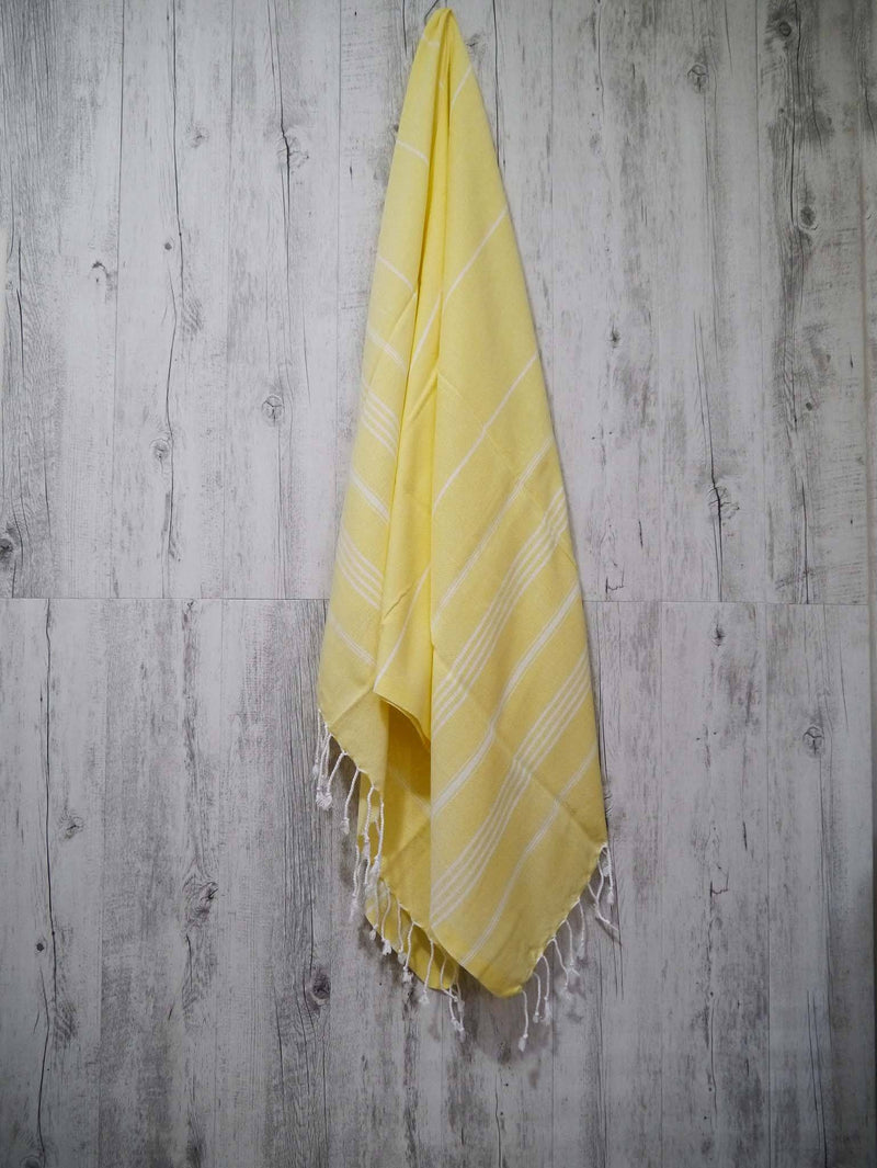 Turkish Towel Cotton Classic Striped Yellow
