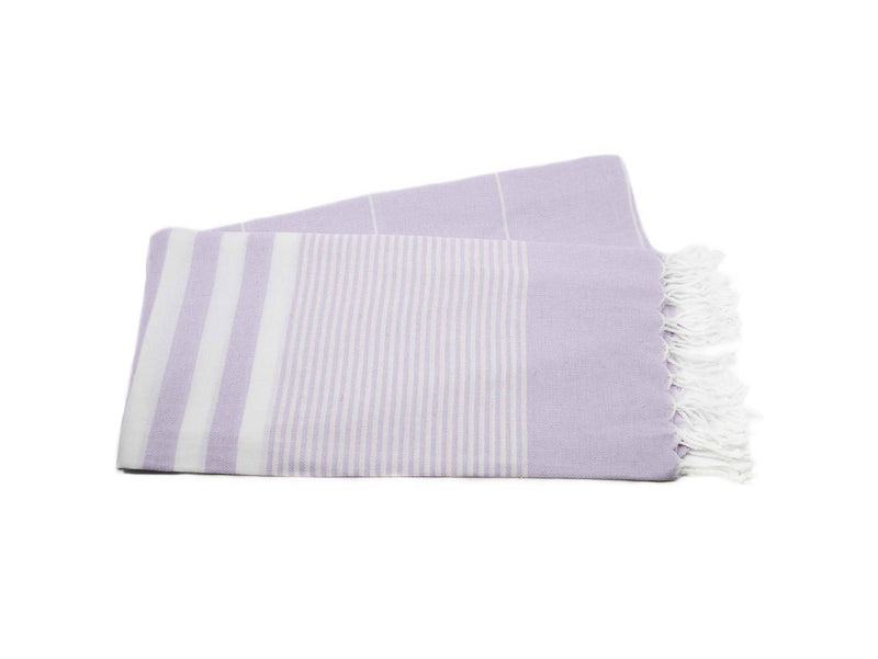 Turkish Towel Vintage Striped Purple Lavender