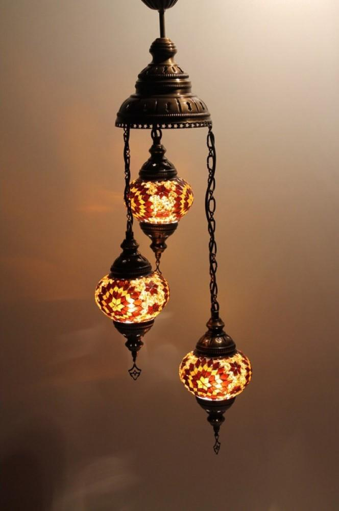 turkish ceiling lights brown colour