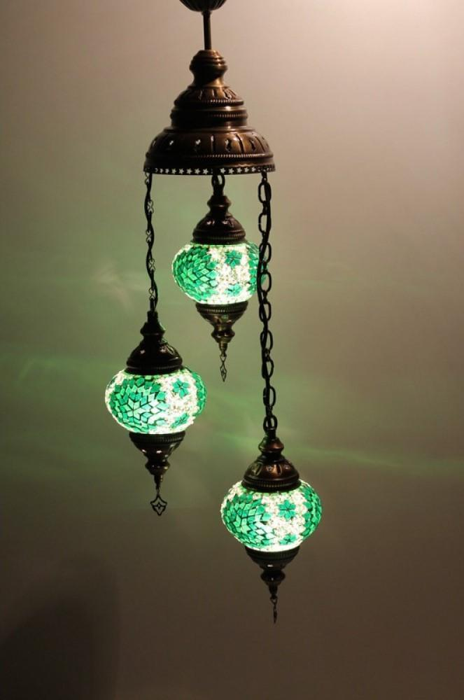 turkish ceiling lights green colour