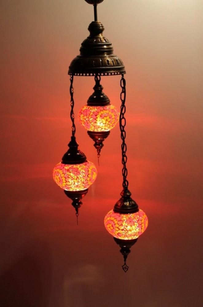 Turkish chandeliers red colour Australia