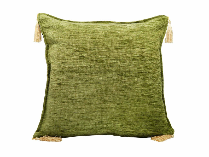 Turkish Cushion Cover New Ottoman Green Back Side
