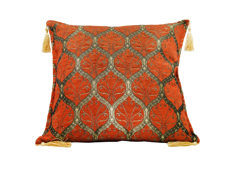 Turkish Cushion Cover Traditional Rusty Orange